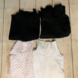 Set of 4 Little Girl Turtlenecks Size 4T